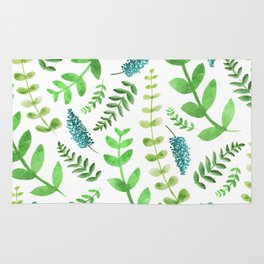 Greenery Leaves Pattern Rug