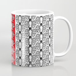 Rib-bellion Pattern with Red stripe Coffee Mug
