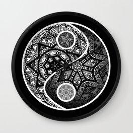 Yin Yang Zentangle Wall Clock