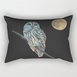 Owl, See the Moon (sq) Rectangular Pillow