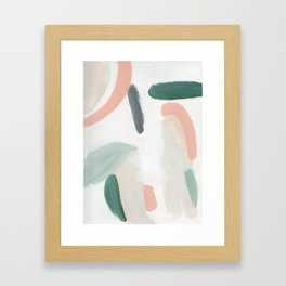 Pastel Pumpkin Patch Framed Art Print