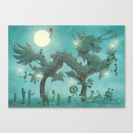 The Night Gardener - Dragon Tree night option  Canvas Print