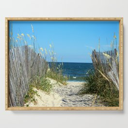 Sandy Path To The Sea Serving Tray