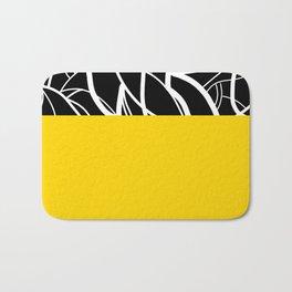 Yellow Zebra Bath Mat