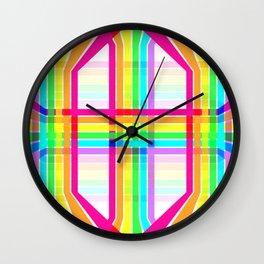 Weaved Rainbow Wall Clock