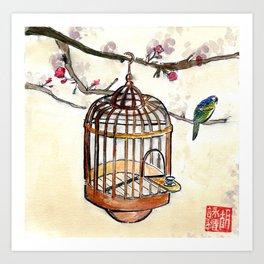 Chinese tea break Art Print