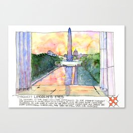 Through Lincoln's Eyes, Washington DC Canvas Print