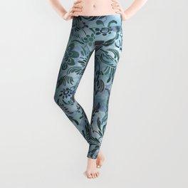 Watercolor Damask Pattern 08 Leggings
