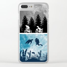 Close Encounters of the Moon Clear iPhone Case