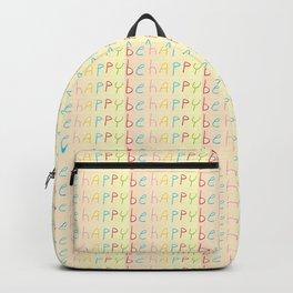 be happy-happy,joy,grin,sonrisa,fun,good,positive Backpack