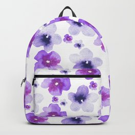 Modern purple lavender watercolor floral pattern Backpack