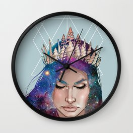 Mermaid Galaxy hair Wall Clock