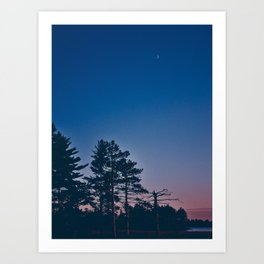 Tiny Crescent Moon Art Print
