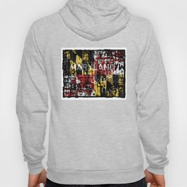 Maryland Flag Print Hoody