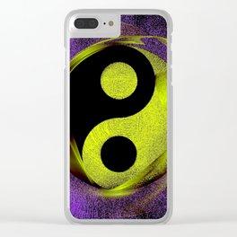 yin yang Ensō zen buddhism purple anise Clear iPhone Case