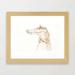 Sailor Gator  Framed Art Print