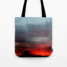 Night Lights Moving Sunset 20 Tote Bag