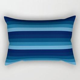 teal blue stripes Rectangular Pillow