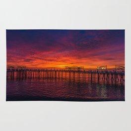 Redondo Pier Sunset Rug