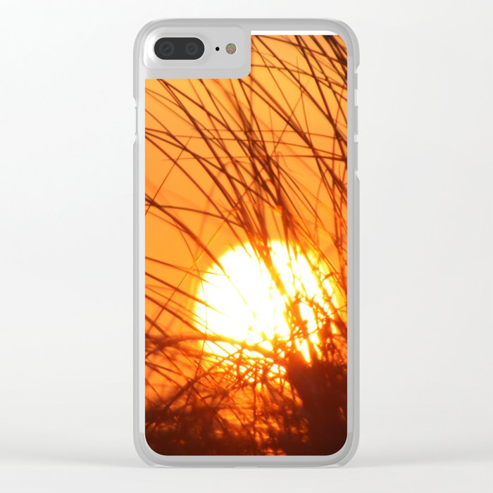Sunset Through the Grass Clear iPhone Case