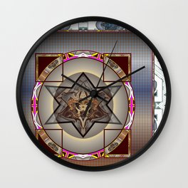*Caged Star* Wall Clock