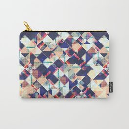 Geometric Grunge Pattern Carry-All Pouch