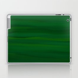 Emerald Green Stripes Abstract Laptop & iPad Skin