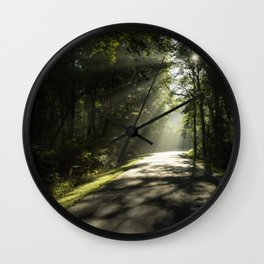 Forest Morning 2 Wall Clock
