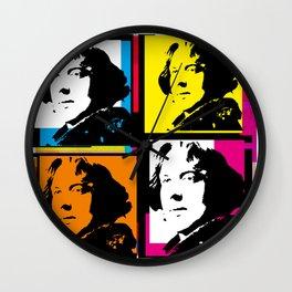 OSCAR WILDE (4-UP POP ART COLLAGE) Wall Clock
