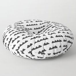 Hand Drawn Pyramids Floor Pillow