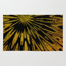 Native Tapestry in Gold Rug