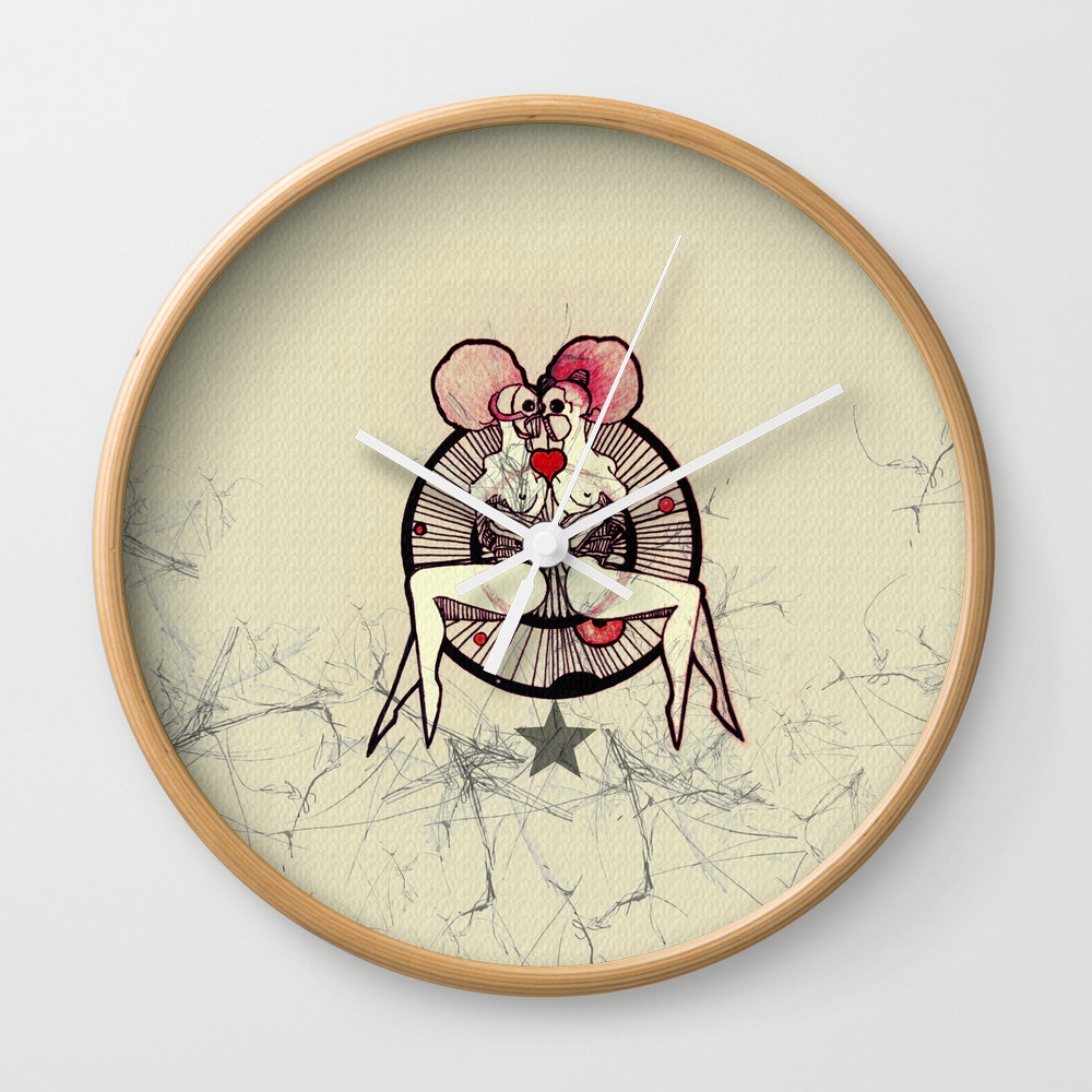 Crazy Horse Wall Clock by Antonleeart CLK9119599