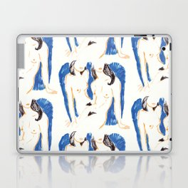 Nudes in Gold and Blue Laptop & iPad Skin