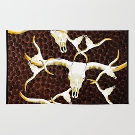 Texas Longhorn Art by Sharon Cummings Rug