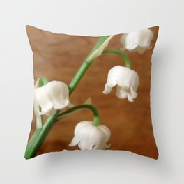 lily of the valley II Throw Pillow