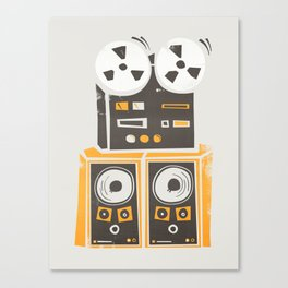 Reel to Reel Player Canvas Print