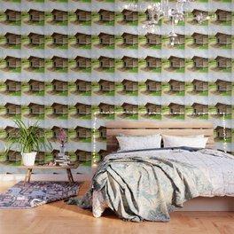 Historic Log Cabin Wallpaper
