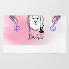 Bearly Boho Polar Bear Hippie Rug