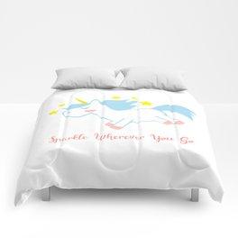 Sparkling Unicorn Comforters