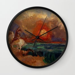 "Odilon Redon ""Saint George and the Dragon (Saint Georges et le dragon)"" Wall Clock"