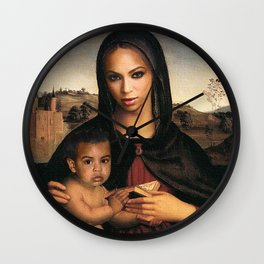 Bey and Blue  Wall Clock