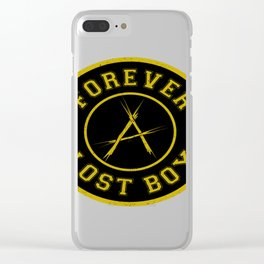 Lost Boy Badge Clear iPhone Case