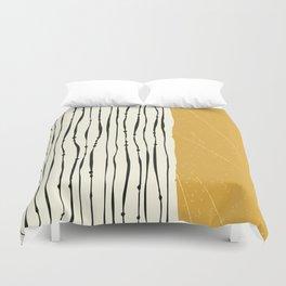 Gold Zebra Stripes Duvet Cover