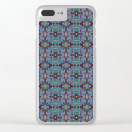 Overshot Pattern Clear iPhone Case