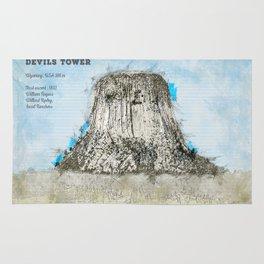 Devils Tower Rug