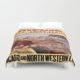 Vintage poster - Grand Canyon Duvet Cover
