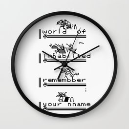 Plead [I Was Never Your Rival...] Wall Clock