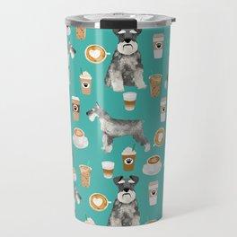 Schnauzer coffee dog breed pet art pure breed cafes pupuccino Travel Mug