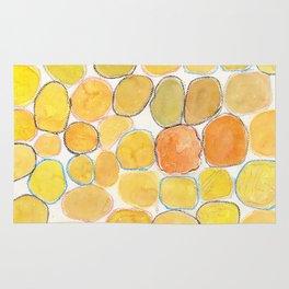 Cheerful orange Gathering Rug