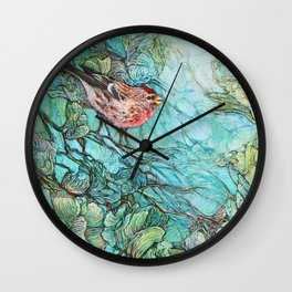 The Aquamarine Labyrinth (detail no. 1) Wall Clock